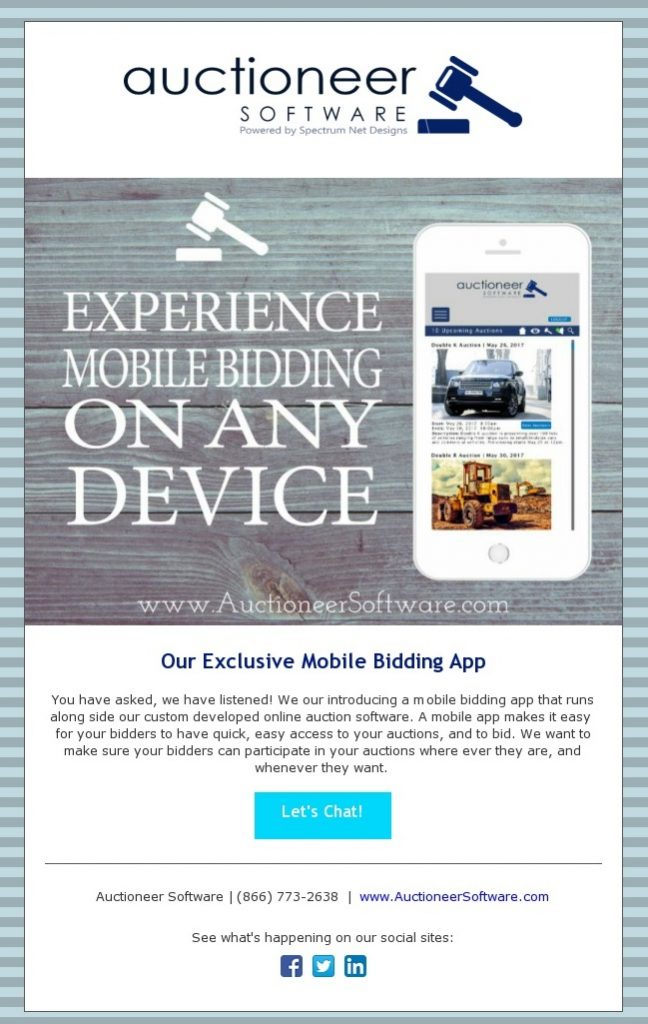 Experience Mobile Bidding