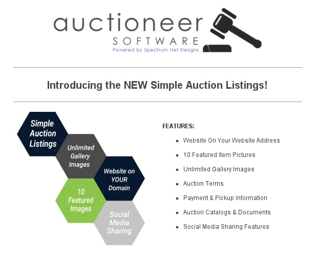 Simple Auction Listing Newsletter