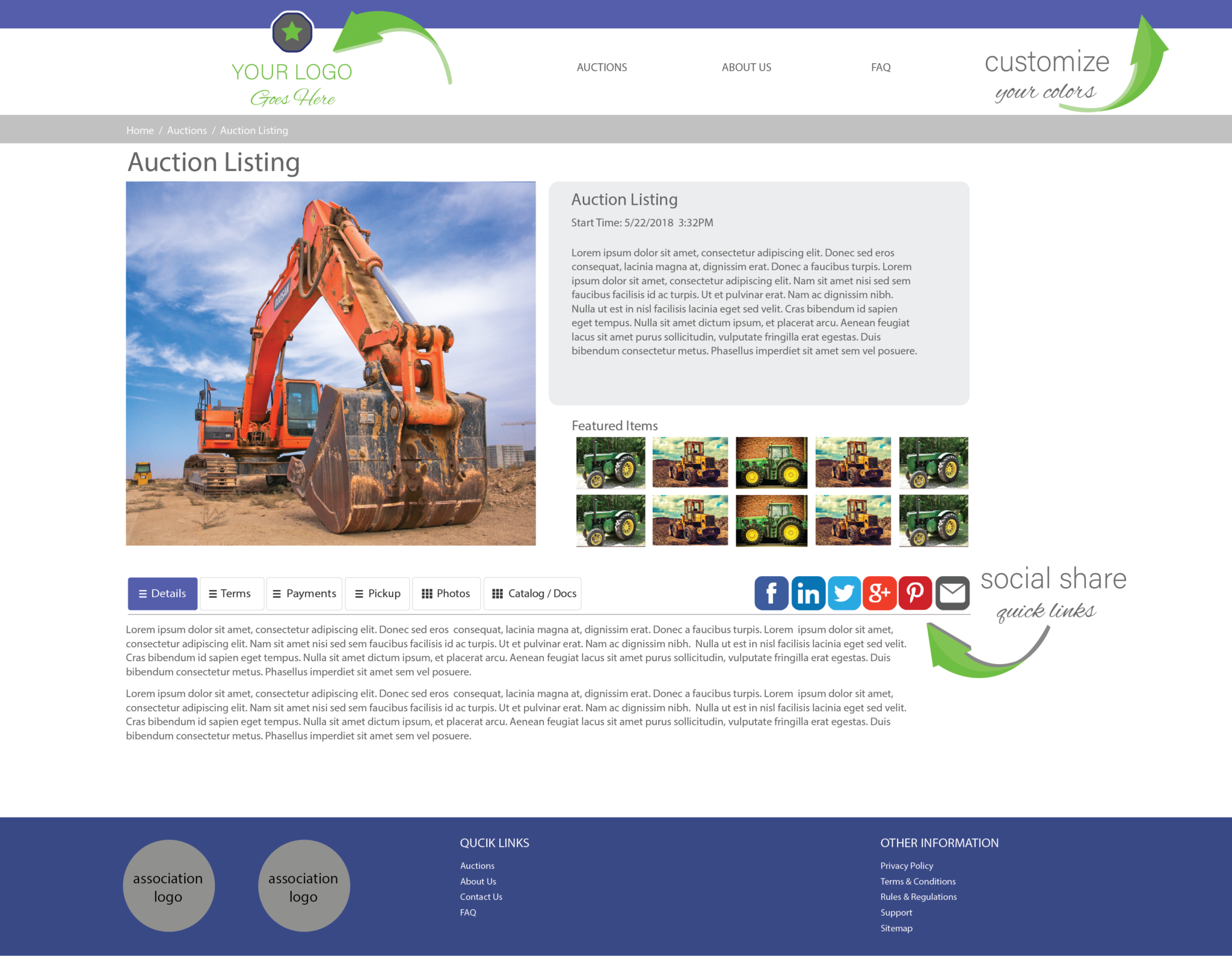 free auction website listings