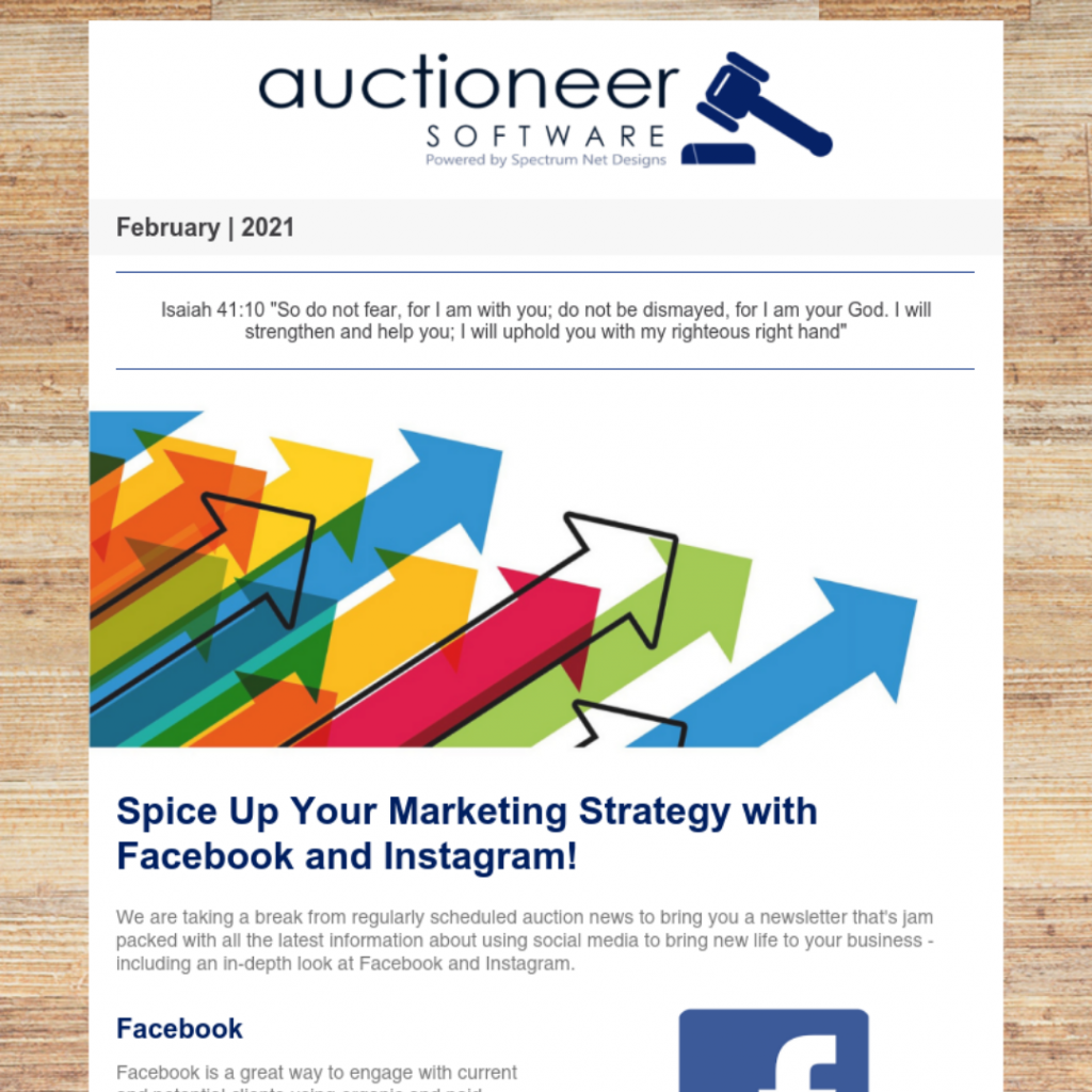 auctioneer software newsletter 2.4.21