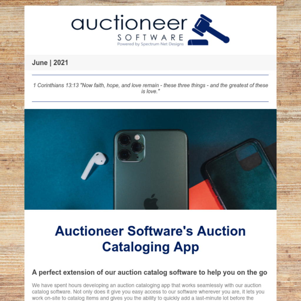 6.10.21 Auctioneer Newsletter Webpage Image