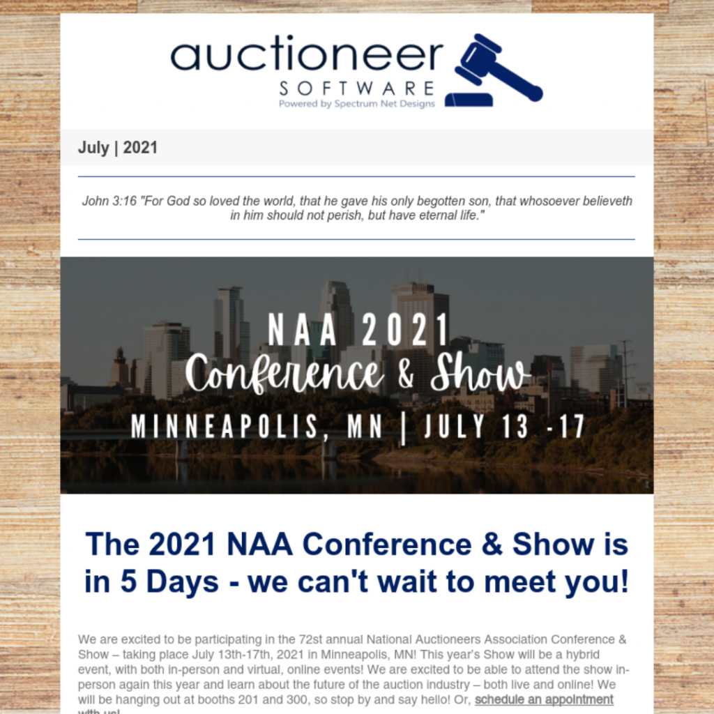 7.8.21 Auctioneer Newsletter Webpage Image
