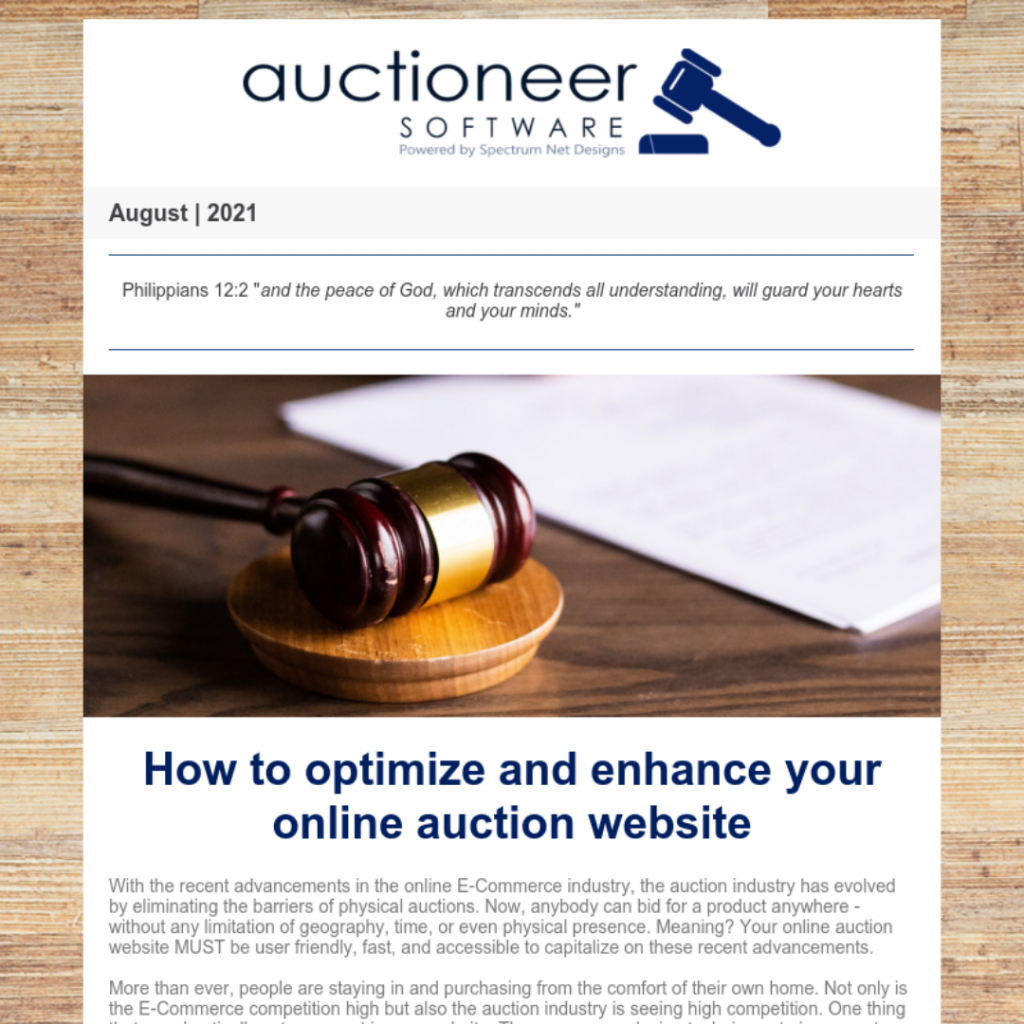8.19.21 Auctioneer Newsletter Webpage Image