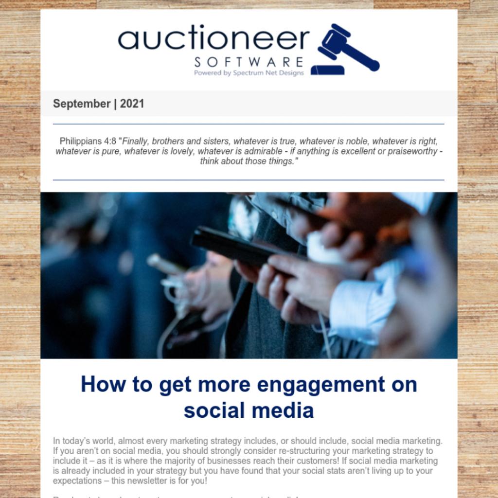 auctioneer newsletter